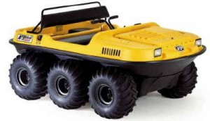 ARGOS amphibious, all-terrain vehicle.