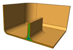 Excess material accumulation may lead to voids or sink marks
